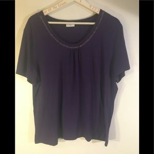 Purple scoop neck t shirt